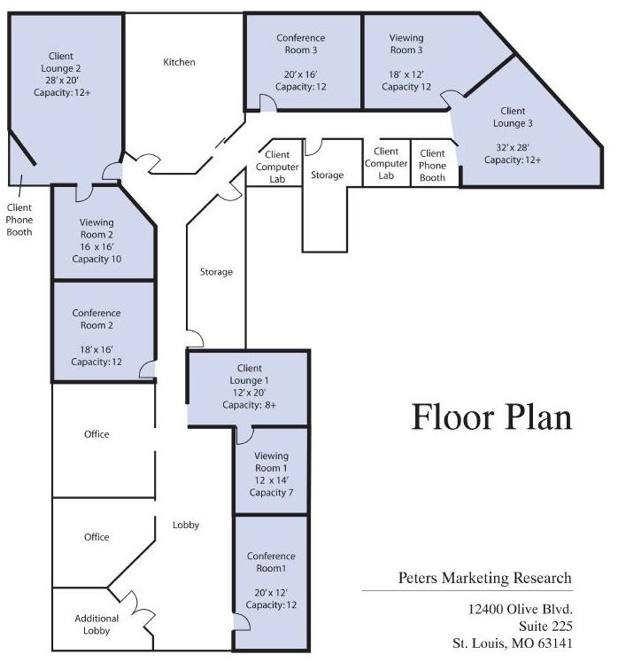 Peters marketing research inc client information for Floor plan database